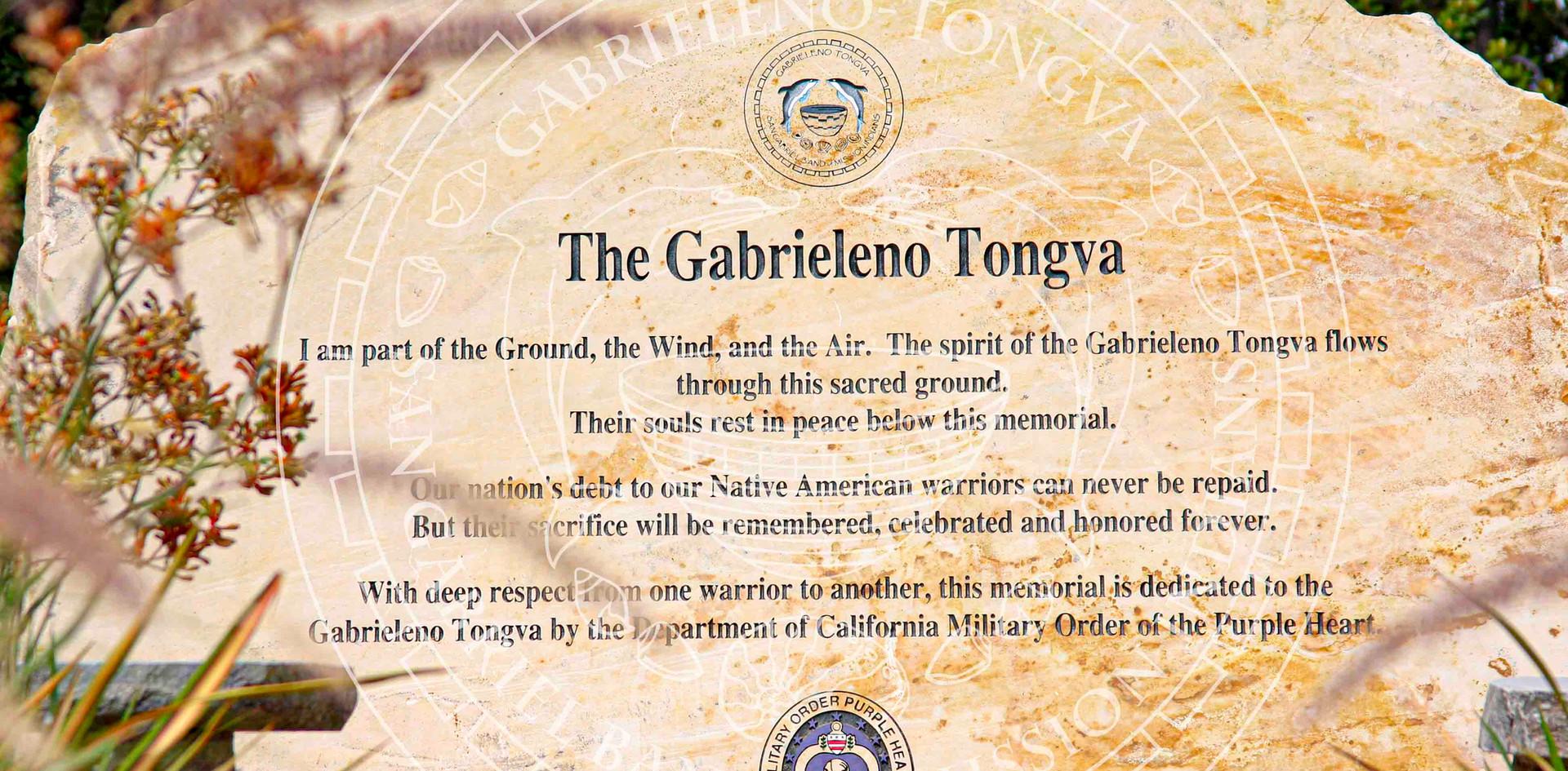 Gabrieleno Tongva Veteran Memorial Stone