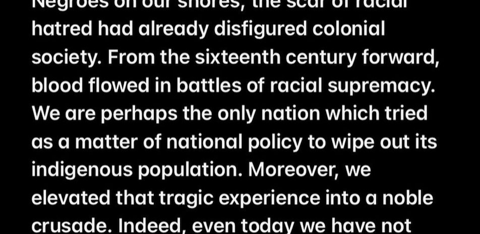 Quote from Martin Luther King Jr. regarding the genocide of Native Americans