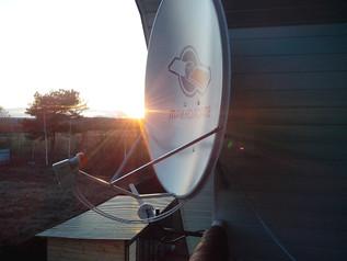 Установка систем спутникового телевидения.