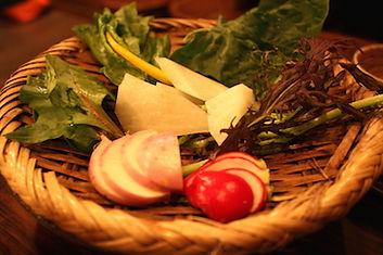 有機農場の情熱野菜の盛り合わせ