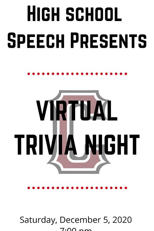 Virtual Speech Trivia Night