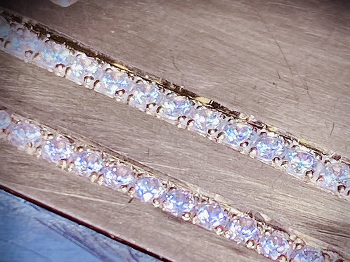 Bead and Bright cut pave