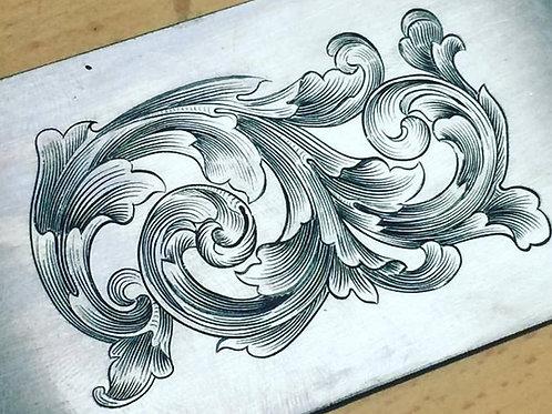 Intermediate hand engraving