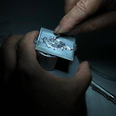 diamond setting and hand engraving