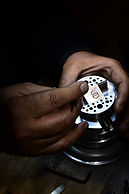 hand engraving & diamond setting