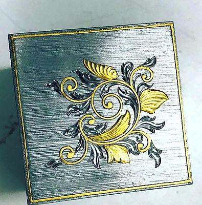 hand engraving gold inlay
