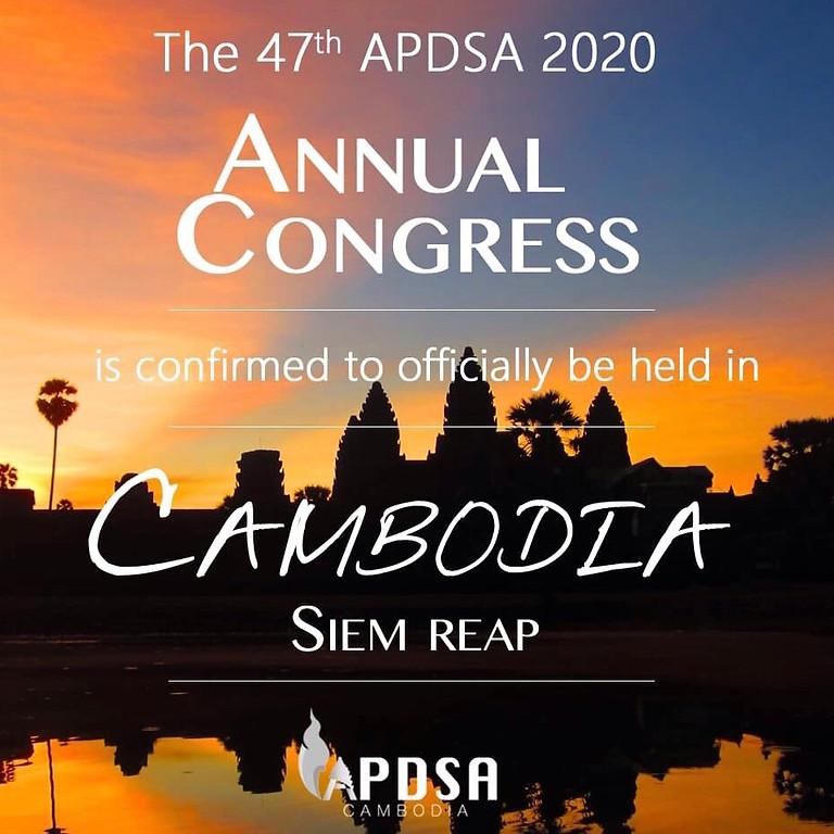 47th APDSA 2020 Annual congress, Cambodia 2021