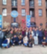 Tours of Liverpool in French - school group in front of Beatles Story