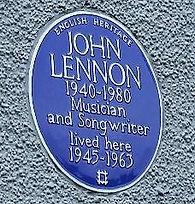 John Lennon's birthplace Blue Badge Plaque