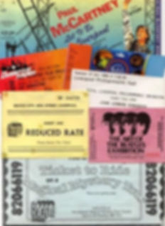 Beales Liverpool - montage of tickets