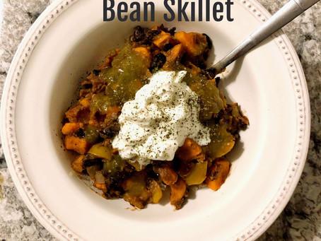Spicy Sweet Potato Black Bean Skillet