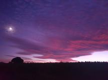 ashram sunset