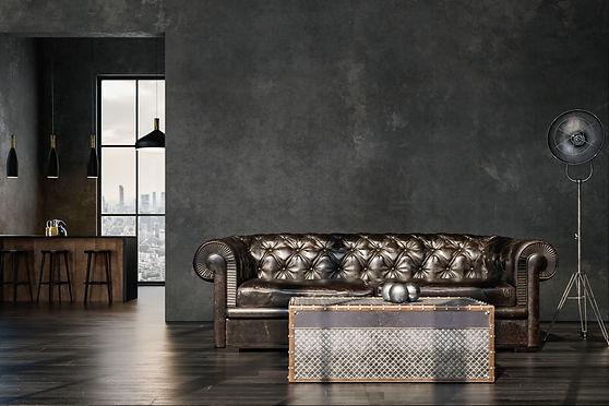 Industrial New York industrial design. RoomsByHeart.