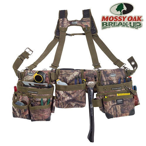 MOSSY OAK® CAMO FRAMER'S TOOL BELT with SUSPENDERS