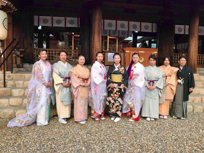 1/11 西宮廣田神社へ舞奉納