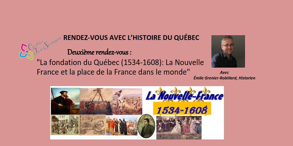2e Rendez-vous avec l'Histoire du Québec avec Émile Grenier- Robillard, historien
