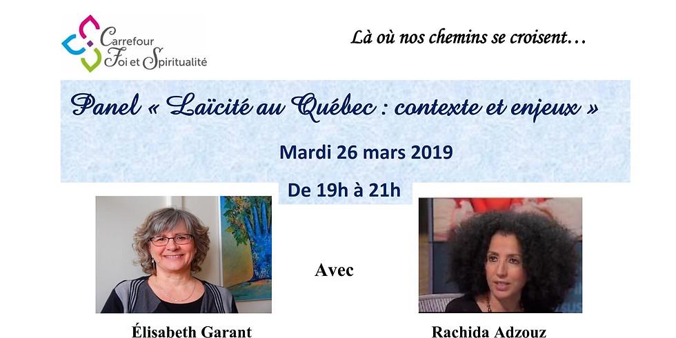 Panel : « Laïcité au Québec : contexte et enjeux »
