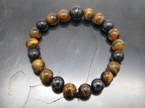 Shungite & Tiger's Eye Bracelet