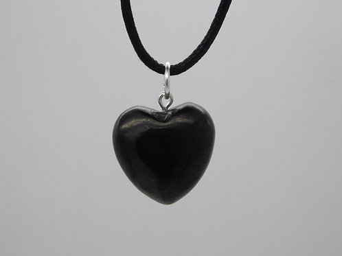 Shungite Heart Pendant (carved)