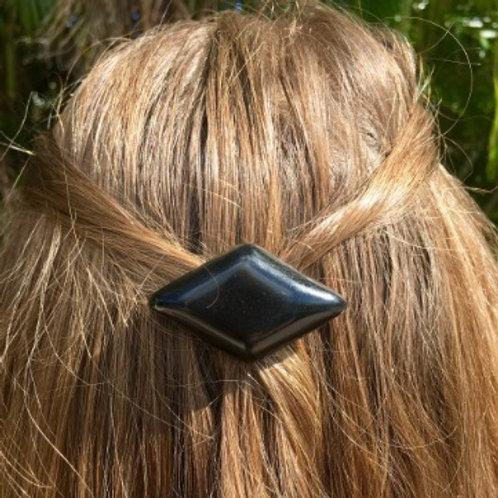 Shungite S4 Resin Diamond Hair Clip