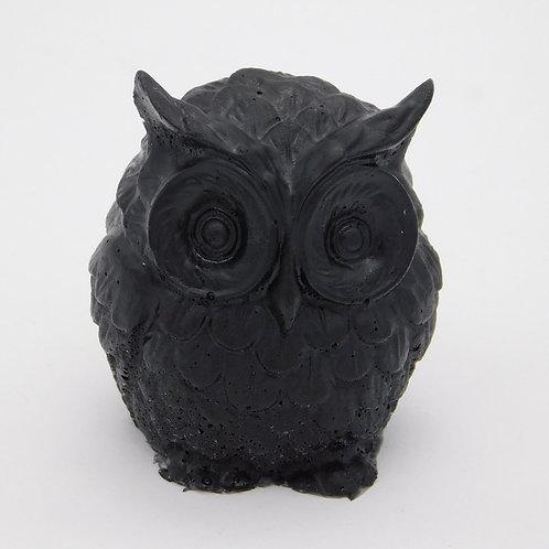 Shungite S4 Resin Owl Totem