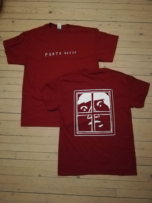 PORTO GEESE - Close CHERRY RED T-SHIRT