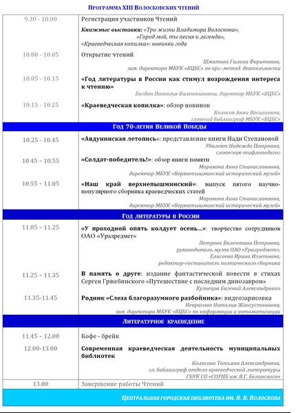 XIII Волосковские чтения