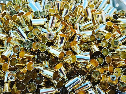 Cleaned 45 ACP Brass Sized Deprimed 100 Empty Brass Casings Fully processed 45ACP Brass All Small Primer .45 AUTO Brass