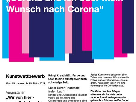 """Kunstwettbewerb """"Corona und ich oder mein Wunsch nach Corona"""""""
