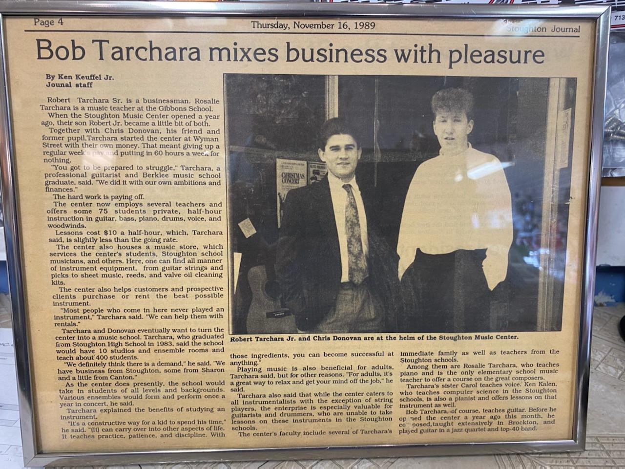 Stoughton Journal Article 1989