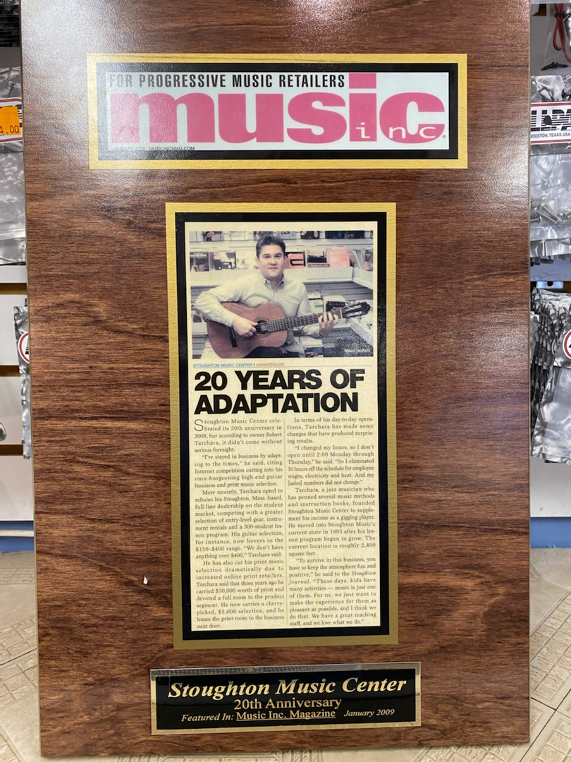 Music Inc. Magazine Article