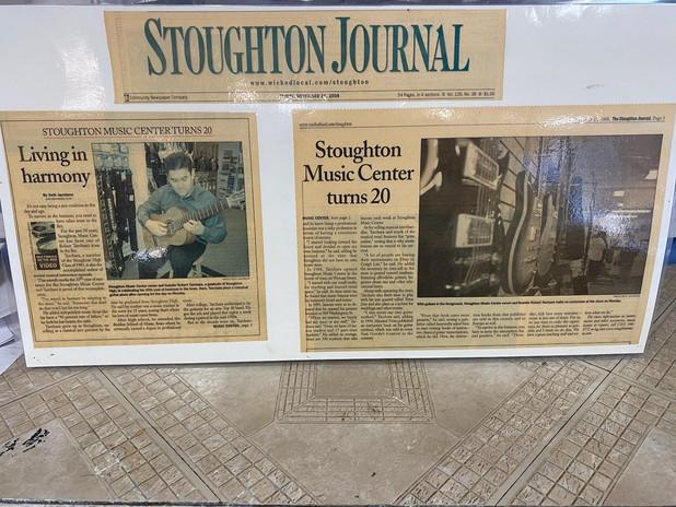 Stoughton Journal 20 Year Anniversary
