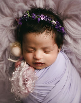 Newborn baby girl photography session