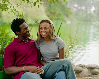 Image of young happy African American couple