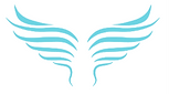 Image of blue angel wings logo