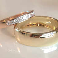 Rose & Yellow Gold Wedders