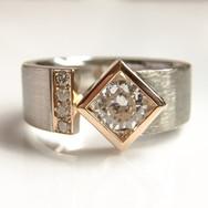 Rose & white gold Diamond ring