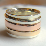 3 Tone Spinner Ring