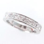 18ct White Gold Princess Cut Diamond Wed