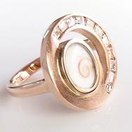 Rose Gold Diamond & Naxos Eye Ring