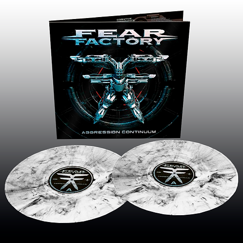 Fear Factory - Aggression Continuum (Crystal Clear & Black Marbled)