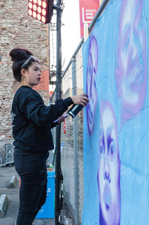"""Sami Painting at Undiscovered SF """"Pinay Power Month"""""""
