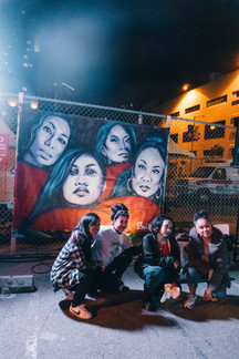 Pinay Rising Mural with Ruby Ibarra, Sami See, Rocky Rivera and Faith Santilla