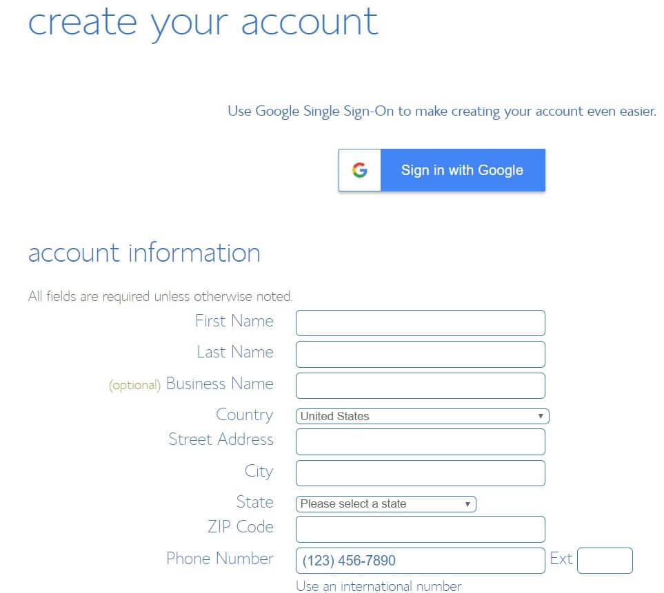 מילוי פרטים אישיים של בעל האתר