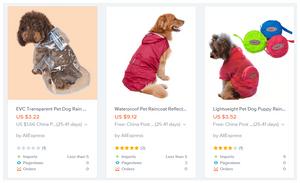 למכור מעילי גשם לכלבים בחג בלאק פריידיי