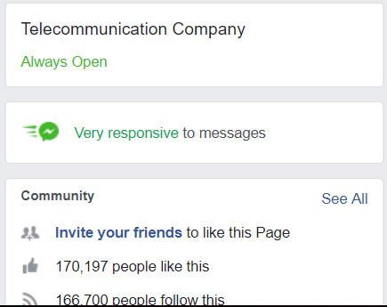 סמל מענה מהיר בעמוד פייסבוק