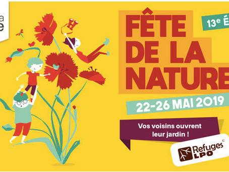 22 au 26 MAI 2019 - FETE DE LA NATURE