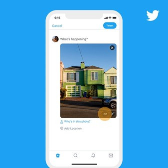 Highlighting where to add alt text to an image on Twitter