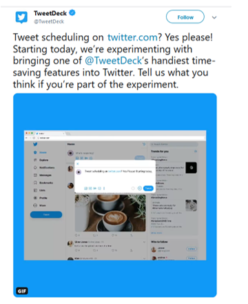 Twitter scheduling roll-out