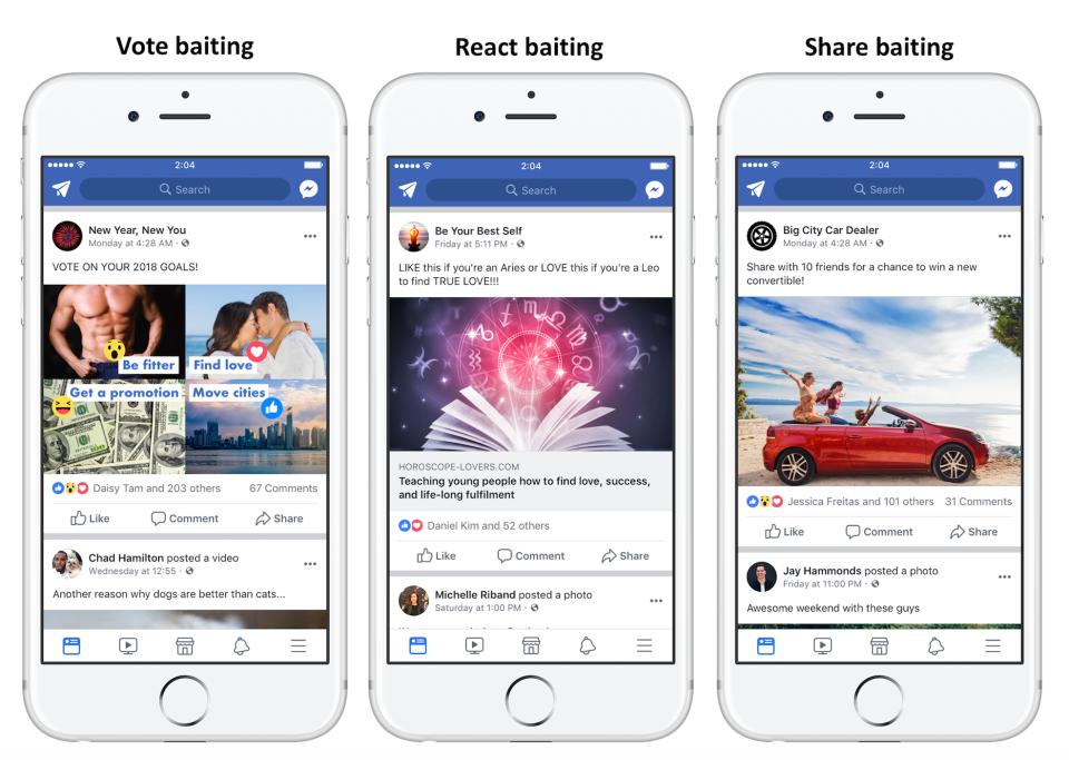 Facebook cracks down on engagement baiting
